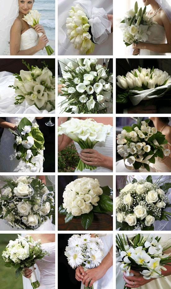 Bijeli buketi za vjenčanje