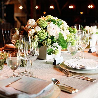 Chic cvjetni dekori za vjenčanje