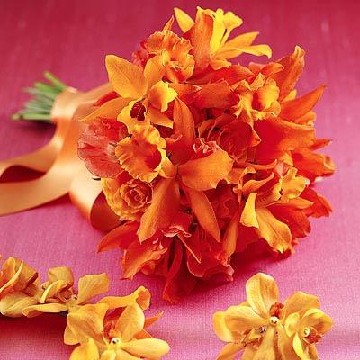 Narančasti buket za vjenčanje