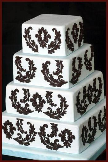 Crno bijele svadbene torte-3