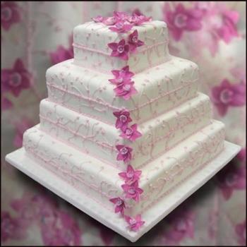 Cvjetne svadbene torte slike-1