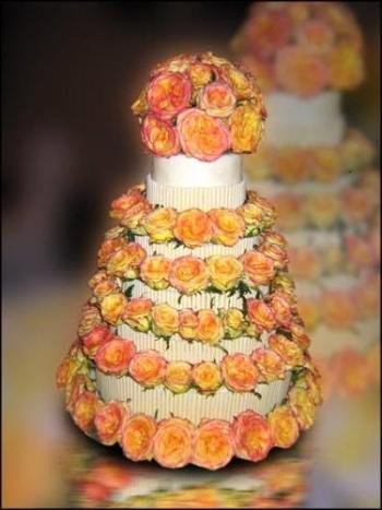 Cvjetne svadbene torte slike-2