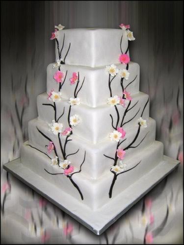 Cvjetne svadbene torte slike-4