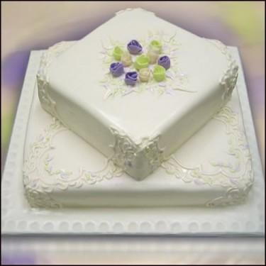 Cvjetne svadbene torte slike-5