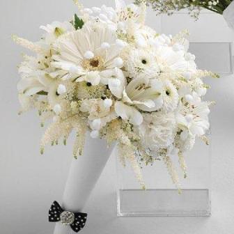 Ideje za bijeli zimski vjenčani buket
