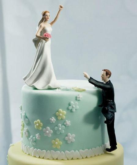 Svadbene torte – saljive figure na vrhu-4