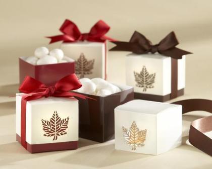 Vjenčanje u jesen - zahvalnice, konfete i pokloni za goste za-1