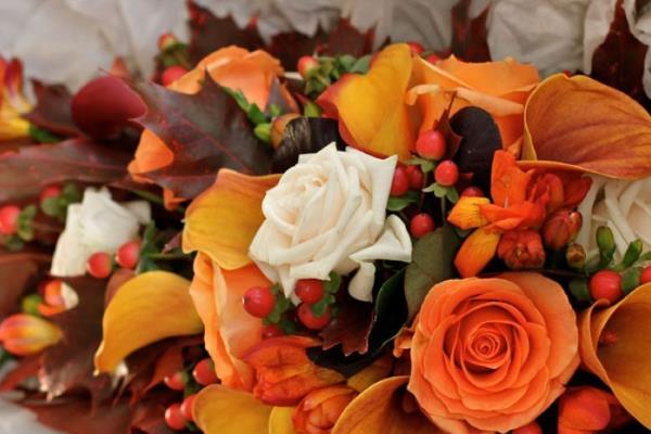 Cvijeće za jesensko vjenčanje